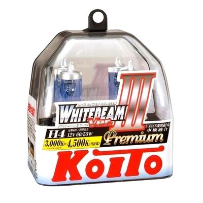 Газонаполненные лампы H4 - Koito Whitebeam     4500K