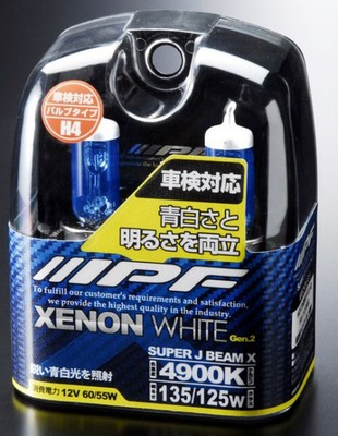 Газонаполненные лампы H4 - IPF XENON WHITE SUPER J BEAM 4900K