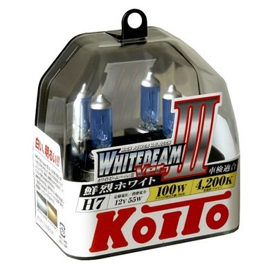 Газонаполненные лампы H7 - Koito Whitebeam ||| 4200K