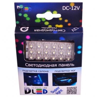 Панель в салонный светильник 18 Led Super-Flux