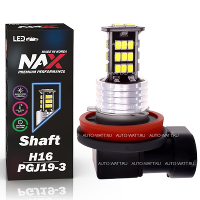 Светодиодная авто лампа H16 PGJ19-3 - NAX Shaft 1 15ВТ