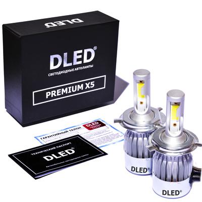 Светодиодная авто лампа H4 - PREMIUM X5 37Вт (Комплект)