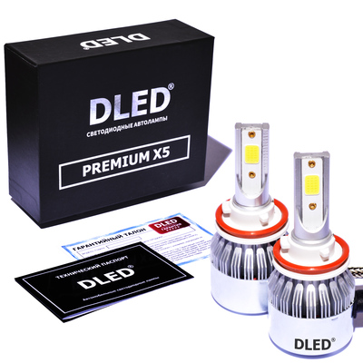 Светодиодная авто лампа H9 - PREMIUM X5 37Вт (Комплект)