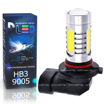 Светодиодная авто лампа HB3 9005 - 4 High-Power + Cree 9.5Вт