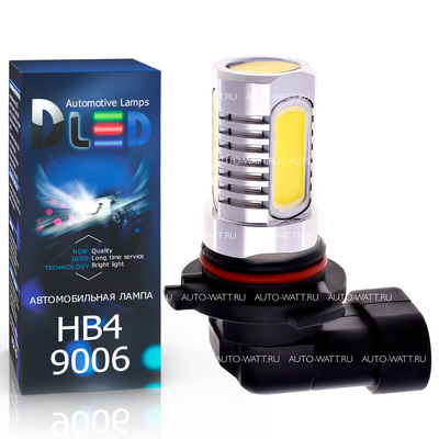Светодиодная авто лампа HB4 9006 - 4 High-Power 6Вт