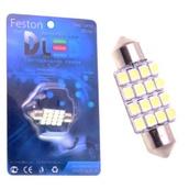 Светодиодная авто лампа C5W 36 мм - 16 SMD3528 1.28Вт Белая