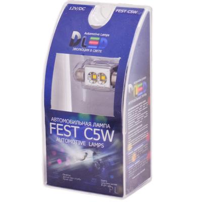 Светодиодная авто лампа C5W 41 мм - 3 Cree Mirror 9Вт Белая