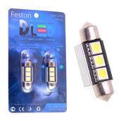 Светодиодная авто лампа C5W 36 мм - 3 SMD5050 0.9Вт Белая