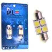 Светодиодная авто лампа C5W 36 мм - 4 SMD5050 0.93Вт Белая