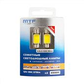 Светодиодная авто лампа C5W 36мм – MTF COB 4500K Белые