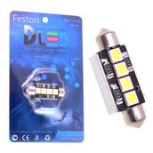 Светодиодная авто лампа C5W 41 мм - 4 SMD5050 1.2Вт Белая