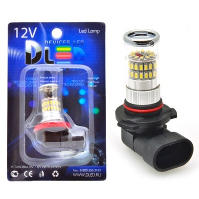 Светодиодная авто лампа H10 - 48 SMD3014 9Вт DLED