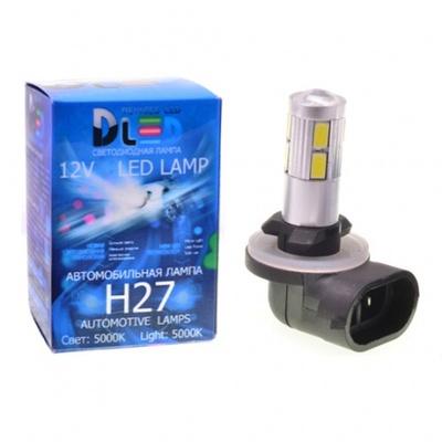Светодиодная авто лампа H27 881 - 10 SMD5630 4Вт DLED