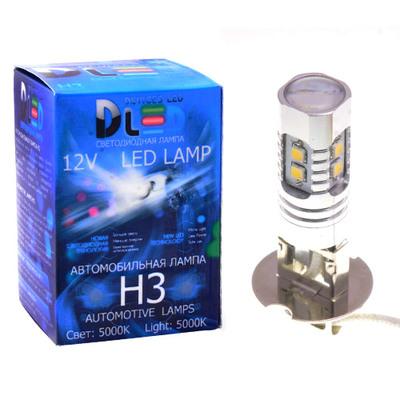 Светодиодная авто лампа H3 - 10 SAMSUNG + Линза 10Вт DLED