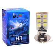 Светодиодная авто лампа H3 - 12 SMD5050 3Вт DLED