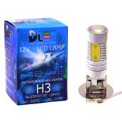 Светодиодная авто лампа H3 - 5 High-Power + Линза 6,5Вт DLED