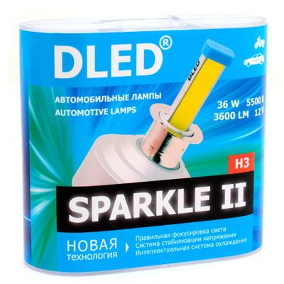 Светодиодная авто лампа H3 - Sparkle 2 36Вт