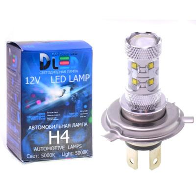 Светодиодная авто лампа H4 - 10 CREE 50Вт DLED