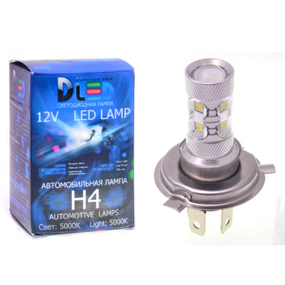 Светодиодная авто лампа H4 - 10 EPISTAR 50Вт DLED