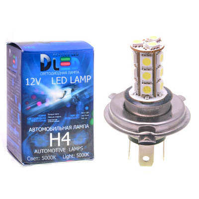 Светодиодная авто лампа H4 - 18 SMD5050 4.32Вт DLED