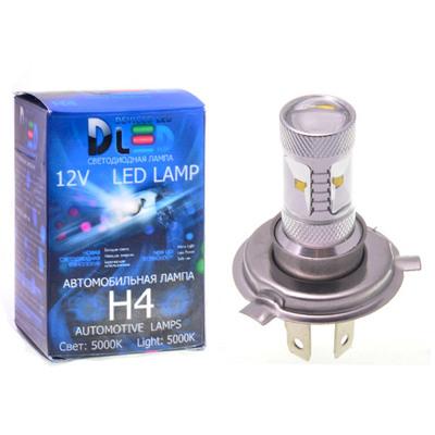 Светодиодная авто лампа H4 - 6 CREE 30Вт DLED