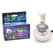 Светодиодная авто лампа H7 - 3 CREE XM-L2 3S 28Вт DLED