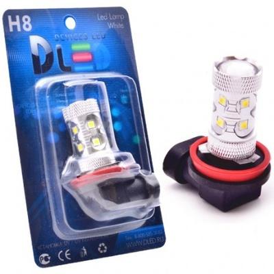 Светодиодная авто лампа H8 - 10 EPISTAR 50Вт DLED