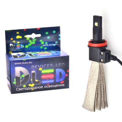 Светодиодная авто лампа H11 - 2 CREE Braid 20Вт DLED