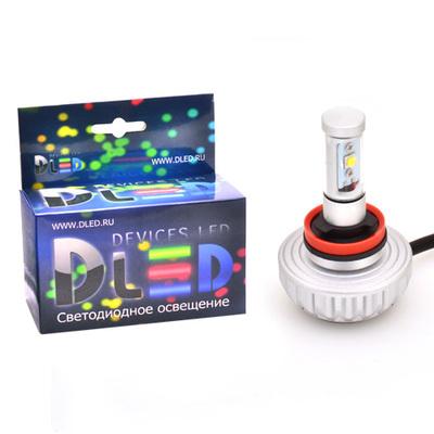 Светодиодная авто лампа HB3 9005 2 CREE XM-L2 3S 20Вт DLED