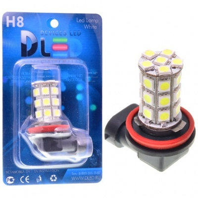 Светодиодная авто лампа H8 - 27 SMD5050 6.48Вт DLED