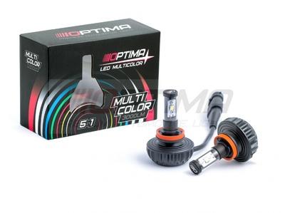 Светодиодная авто лампа H11 - Optima Multi Color