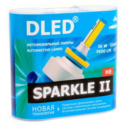 Светодиодная авто лампа H8 - Sparkle 2 36Вт