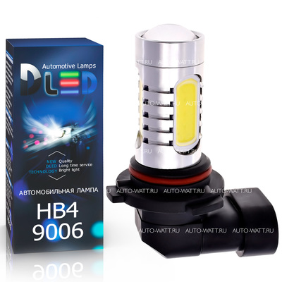 Светодиодная авто лампа HB4 9006 - 4 High-Power + Cree 9.5Вт