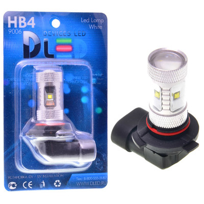 Светодиодная авто лампа HB3 9005 - 6 CREE 30Вт DLED