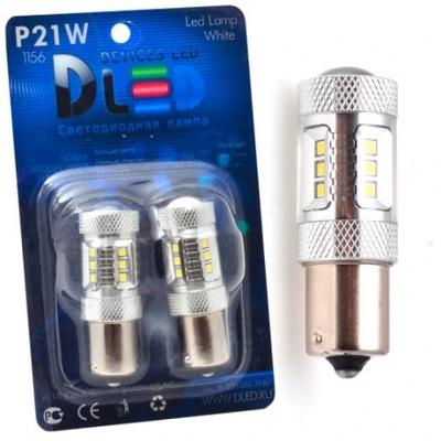Светодиодная авто лампа W21W 7440 - Max-Samsung Chip 15Led 15Вт Белая