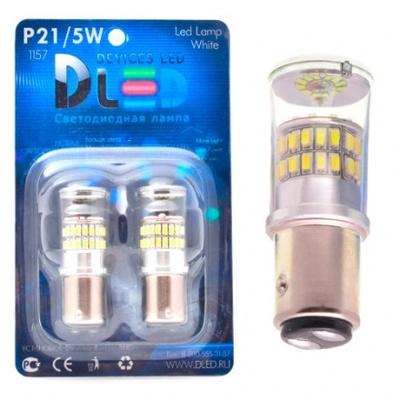 Светодиодная авто лампа P21/5W 1157 - 48 SMD3014 9Вт Красная