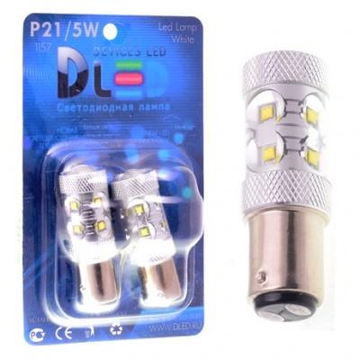 Светодиодная авто лампа P27/7W 3157 - 10 CREE 50Вт Белая