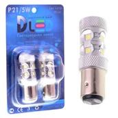 Светодиодная авто лампа W21W 7440 - 10 EPISTAR 50Вт Белая