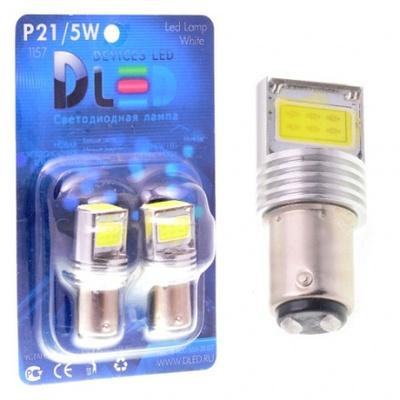 Светодиодная авто лампа P21/5W 1157 - 3 High-Power 9Вт Белая