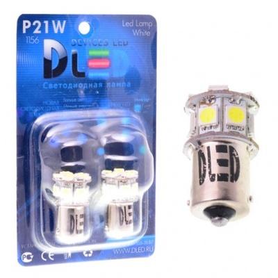 Светодиодная авто лампа P21/5W 1157 - 8 SMD5050 1.92Вт Жёлтая