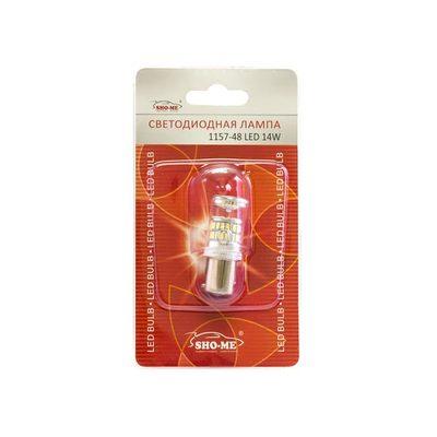 Светодиодная авто лампа P21/5W 1157 - SHO-ME 1157 - 48-LED - 14W Белая