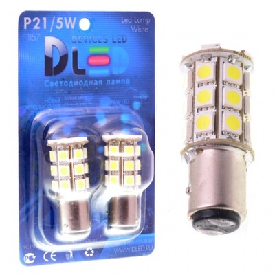 Светодиодная авто лампа P21/5W 1157 - 27 SMD5050 6.48Вт Красная