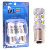 Светодиодная авто лампа P21W 1156 - 10 CREE 50Вт Белая