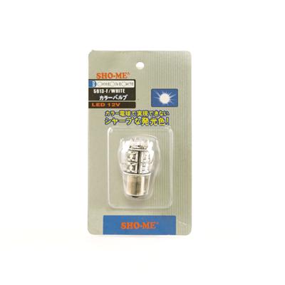Светодиодная авто лампа P21W 1156 - SHO-ME 1156 - 5613 F - 2W Белая