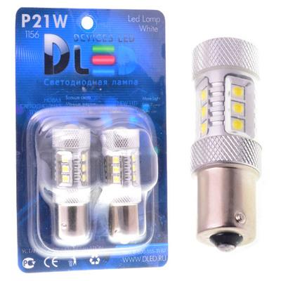 Светодиодная авто лампа P21W 1156 - 16 EPISTAR 80Вт Белая