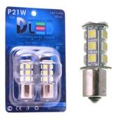 Светодиодная авто лампа P21W 1156 - 18 SMD5050 4.32Вт Белая