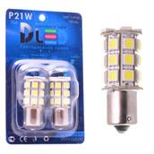 Светодиодная авто лампа P21W 1156 - 27 SMD5050 6.48Вт Красная