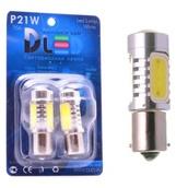 Светодиодная авто лампа P21W 1156 - 4 High-Power 6Вт Красная