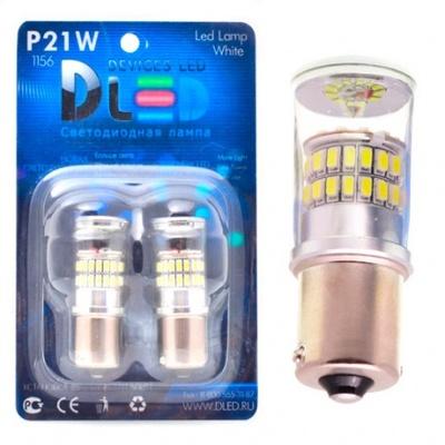 Светодиодная авто лампа P21W 1156 - 48 SMD3014 9Вт Жёлтая