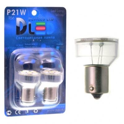 Светодиодная авто лампа P21W 1156 - 6 SMD5050 1.44Вт Белая